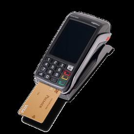 Terminal de paiement avec carte gold