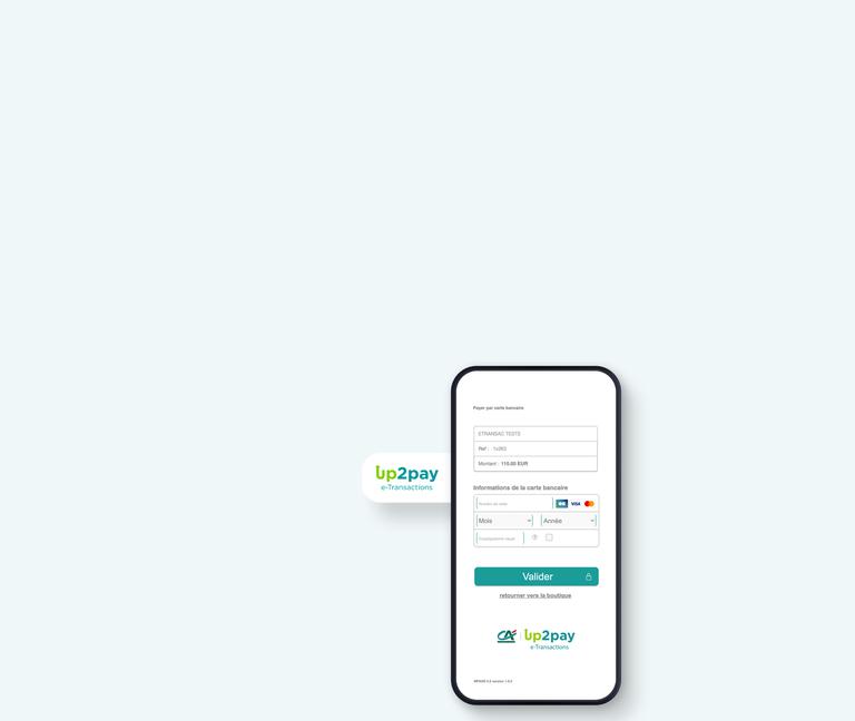 Bannière mobile Up2pay e-Transactions sur mobile