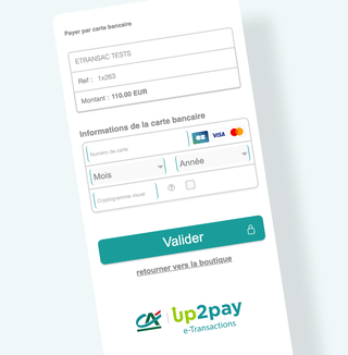Cartes avec prix - Up2pay e-Transactions