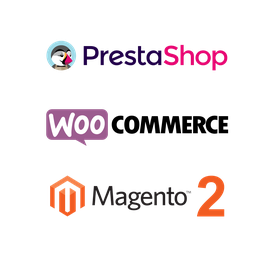 Logos CMS : Prestashop, Woocommerce, Magento